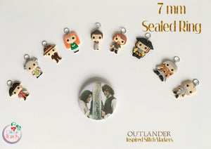 Outlander inspired stitch markers -9 pcs with or without Bracelet