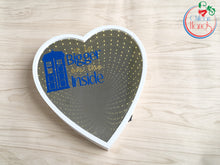 It Bigger on the inside love heart mirror box