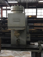 Hannefin S-750 hydraulic straightening press, 60in between centers
