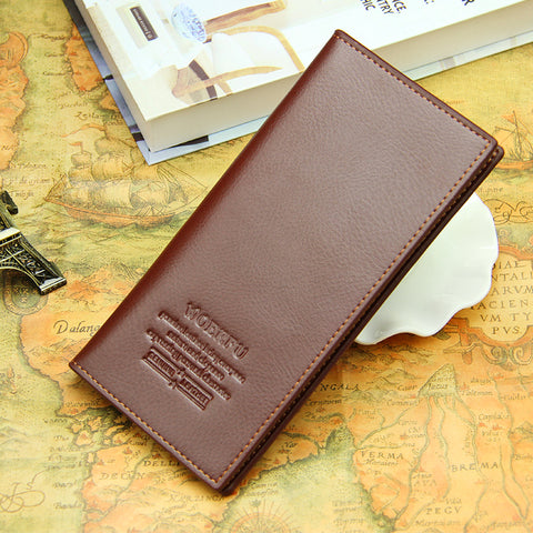 Men PU leather long clutch wallet business men Cards holder