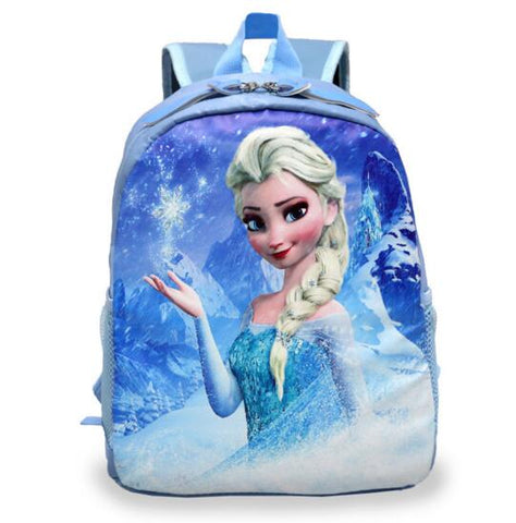 Princess Elsa School Bags for Girls Children Mini Schoolbag Kids
