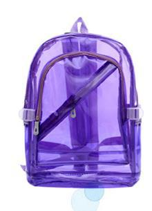 Waterproof Backpack Transparent Clear Plastic Shoulders Bag