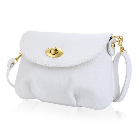 Ruffle Women Handbag Twist lock Detachable Strap Shoulder Messenger Crossbody Leather Small Bags