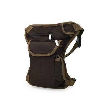 New Canvas Men Vintage Brown Belt Bag Travel Waist Pack Drop