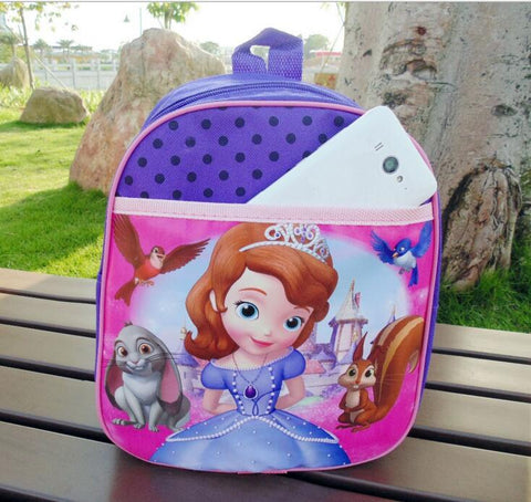 Cute Princess Cartoon Kindergarten Schoolbag Preschool Bags