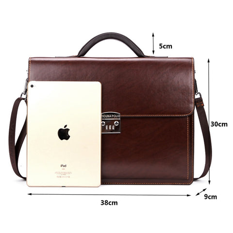Leather Bag Men Briefcase Business Office Bag Leather Large Man portfolio