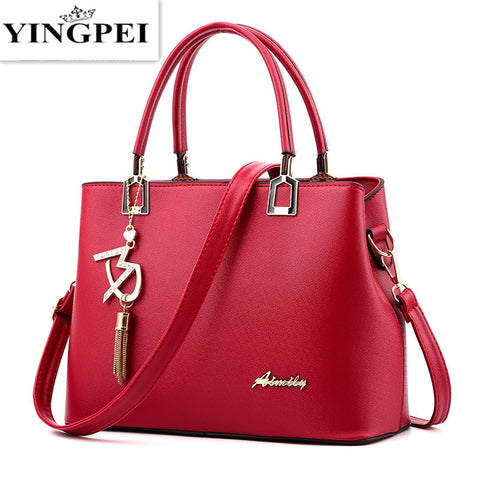 Fashion Vintage PU Leather Handbags High Quatity Casual Shoulder Messenger Crossbody