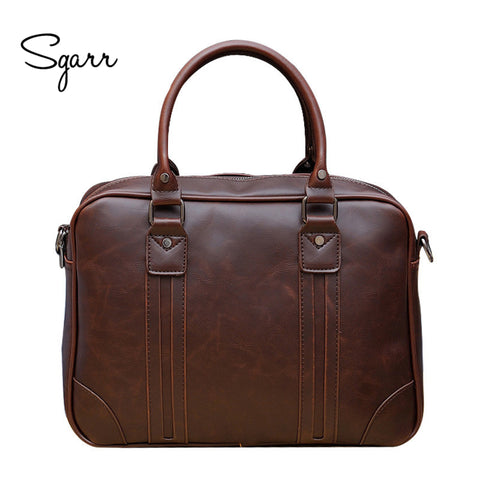 Crazy Horse PU Leather Business Man Briefcase Leather Office Bag