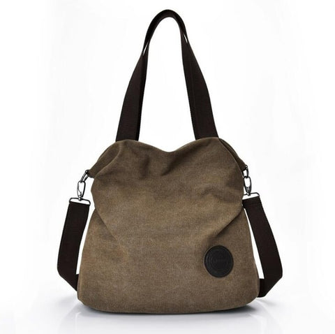 Fashionable High Capacity Canvas Bag for Women