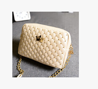Womens Bag Fashion Women Messenger Bag Rivet Chain Shoulder Bag