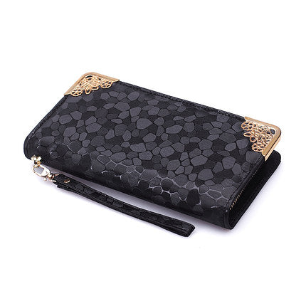 Pu Leather Luxury Shiny Wallet for Women