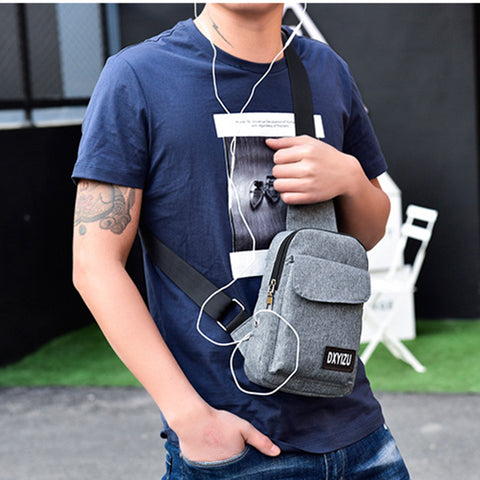Chest Pack Multifunctional Men Crossbody Bags Casual Travel Male Small Retro One Shoulder Bag Strap Back Pack