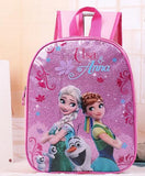Elsa and Anna Cartoon Backpack Kids Character Fashion Schoolbag
