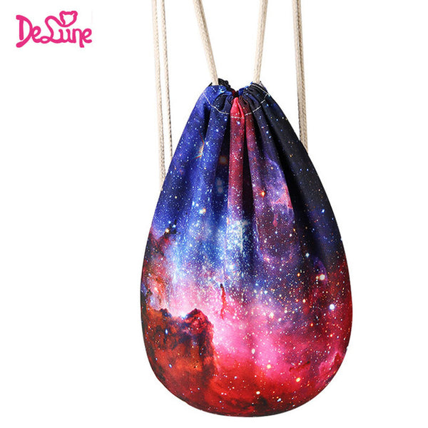 Starry sky print book collect bag cute Backpacks