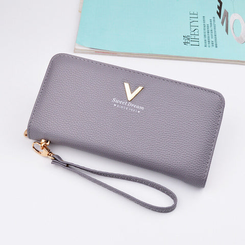 Zipper Pu Leather Sleeky Luxury Wallet for Women
