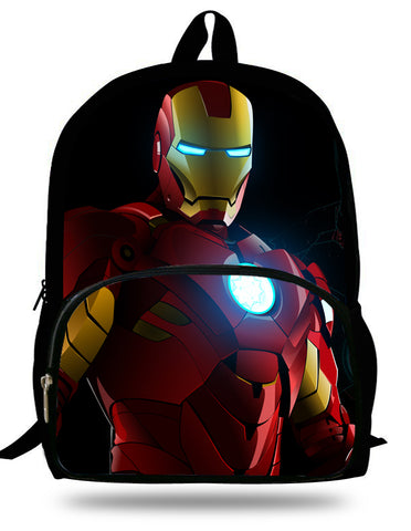 Kids Iron Man Backpack Children School Bags