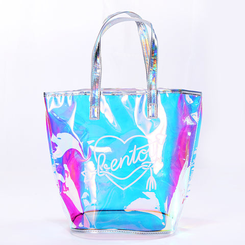 Hologram Laser Shoulder Bag Shopping Bag Summer Beach Ladies Bags Women