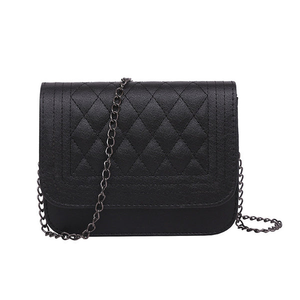 Trendy Classy Chain Wear Shoulder Bag Small Flap
