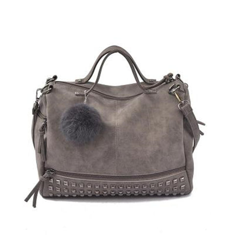 2 in 1 Leather Top-handle Bags and Shoulder Bag for Women