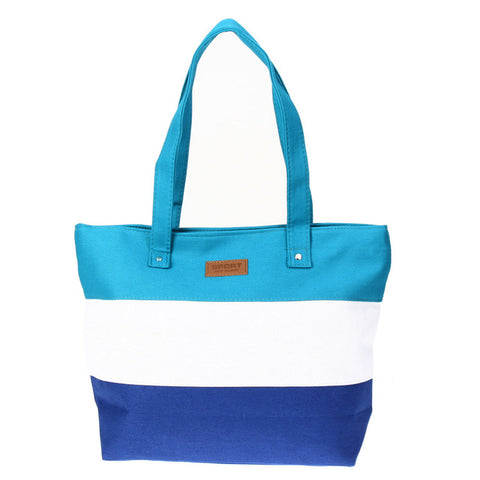 Shopping Bags Summer Beach Big Shoulder Bags Ladies Large Capacity Canvas Striped Messenger Tote Bag