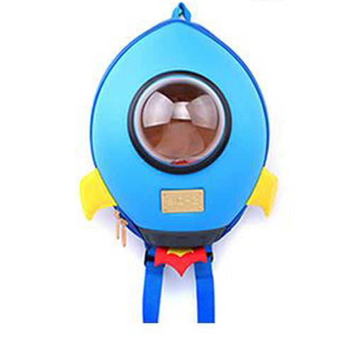 Supercute Waterproof Rocket Style EVA Children School Bags