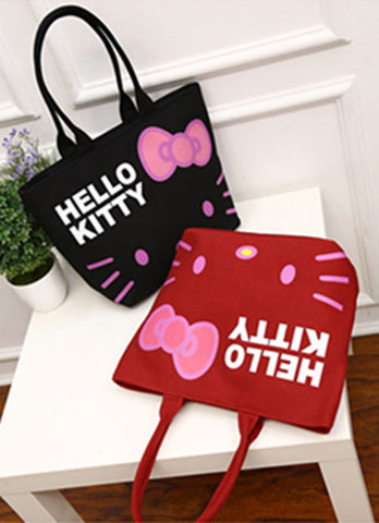 New Hello kitty Canvas Bag Shopping