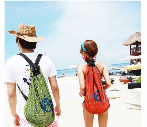 Lovers backpack women men beach bag backpack women drawstring waterproof