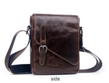 Men Luxury Genuine Leather Men Bag Designer Vintage Shoulder Bag Office