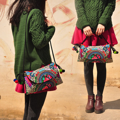 Hot Women Embroidery Shoulder Bag