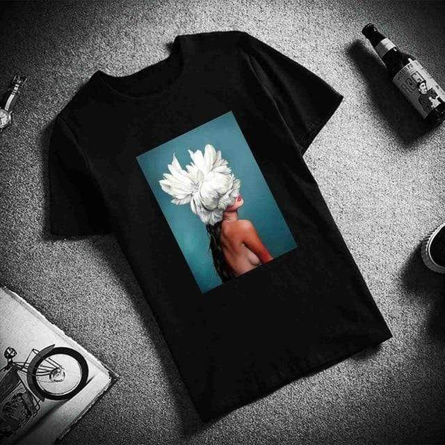 Flowers Feather T Shirts - MiKlah
