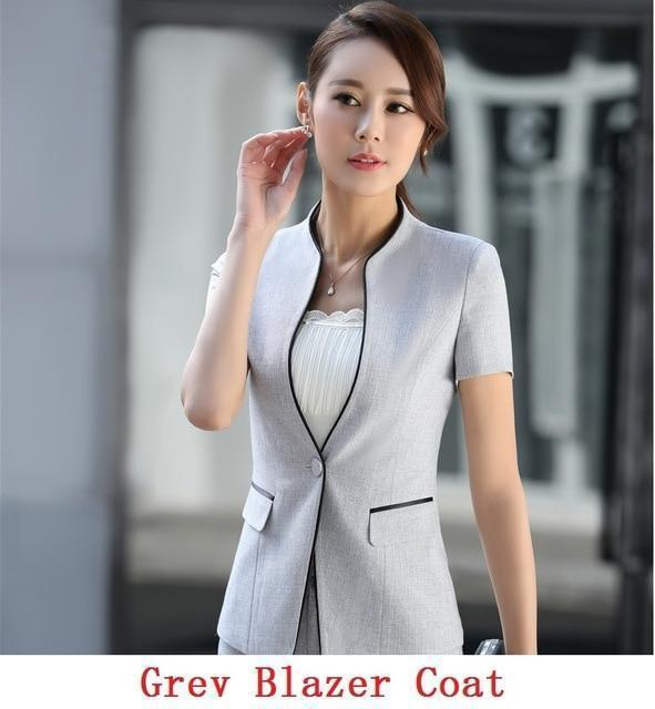 Short Sleeves Business Suits - MiKlah