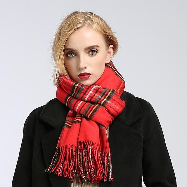 MIK Plaid blanket Scarves - MiKlah