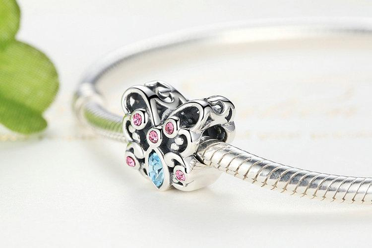 925 Sterling Silver Butterfly Animals Charms - MiKlah