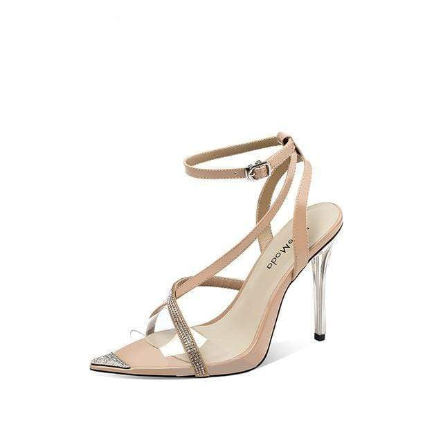 Crystal Strap High Heel - MiKlah