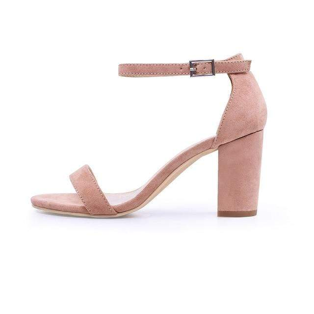 Chunky High Heels Sandals - MiKlah