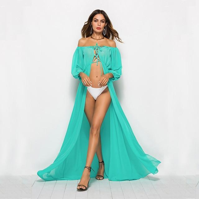 MIK Kaftan Beach Cover Up - MiKlah