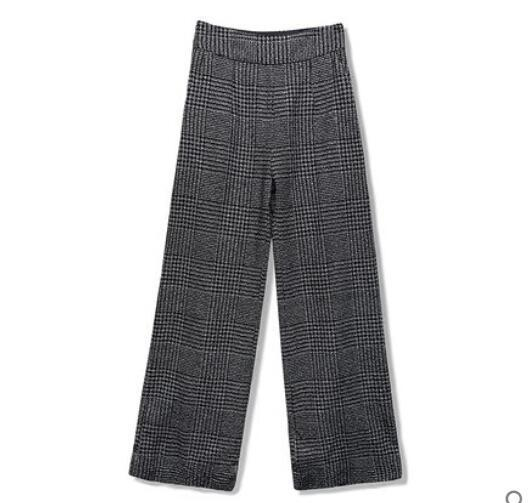 Wide Leg Wool Pants - MiKlah