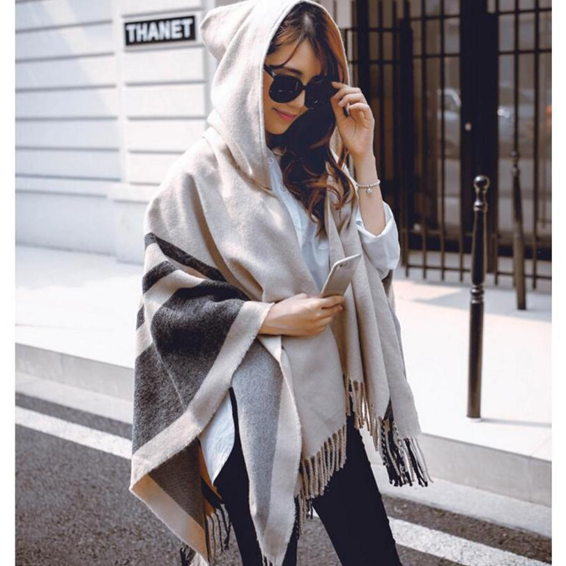 MIK High Quality Ponchos Hooded Shawls - MiKlah