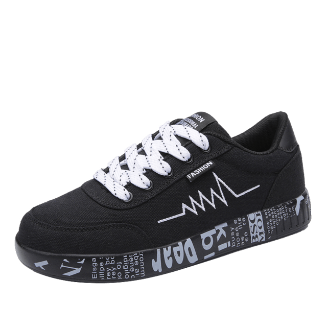 MIK Vulcanized Lace-up Breathable Graffiti Sneakers - MiKlah