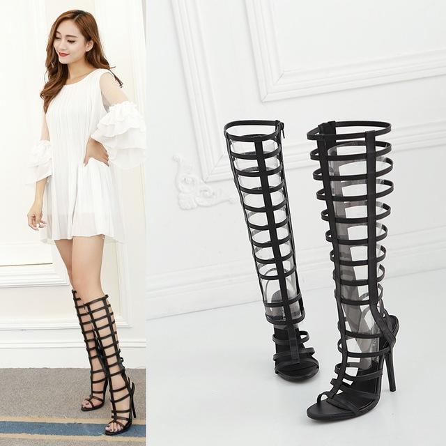 MIK Gladiator Hollow Out Female Boots - MiKlah