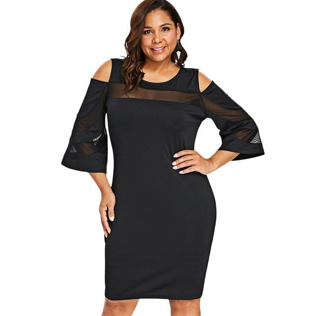Flora Cold Shoulder Dress - MiKlah