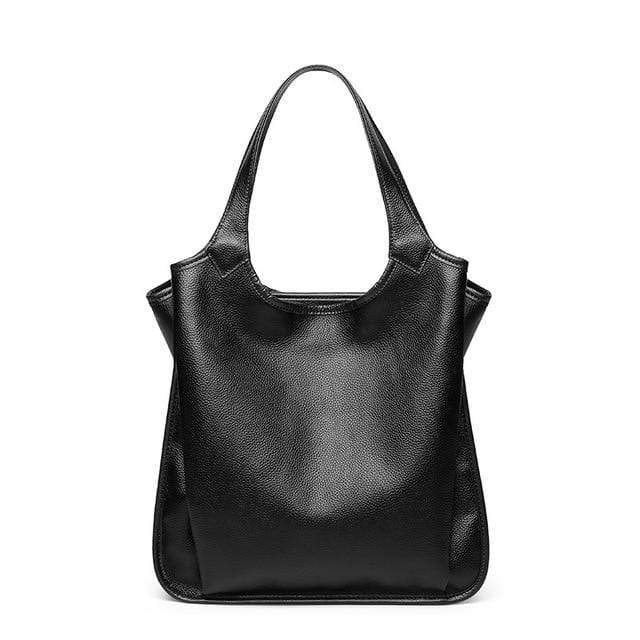 Leather Bucket Shoulder Bag - MiKlah