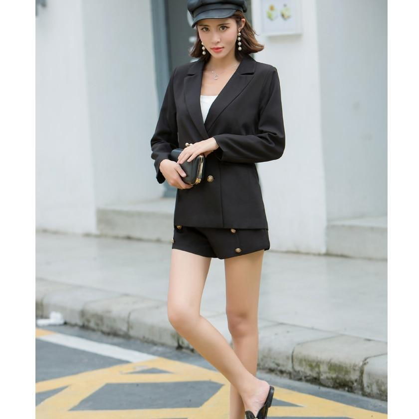 Elegant Office Lady Shorts Suit - MiKlah