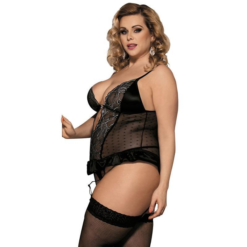 Transparent Crocheted Lenceria  Lingerie - MiKlah