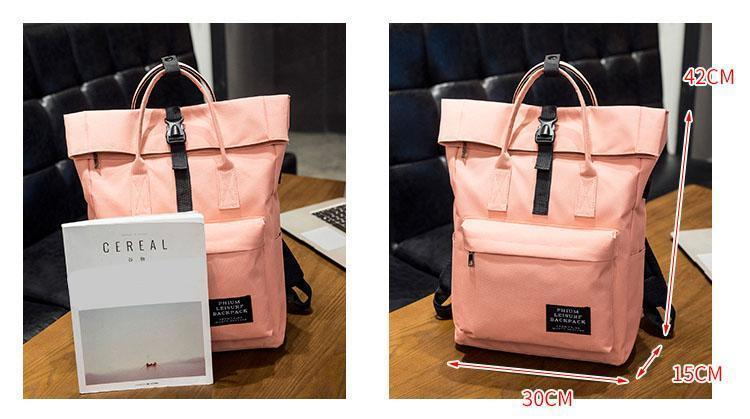 Rolldown Pastel Laptop Backpack - MiKlah