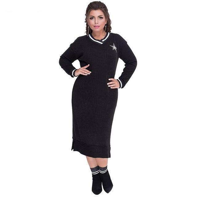 MIK Loose Sweater Dress - MiKlah