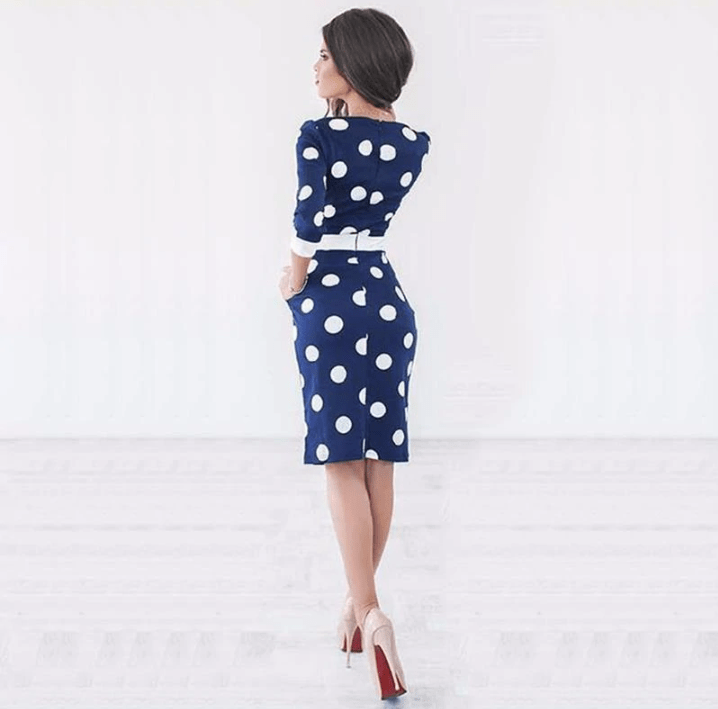Polka Dot Bow Dress - MiKlah