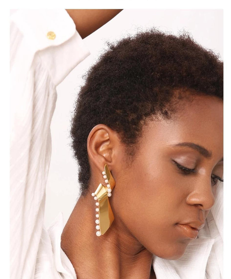 Wrap Me Pearls Earrings - MiKlah