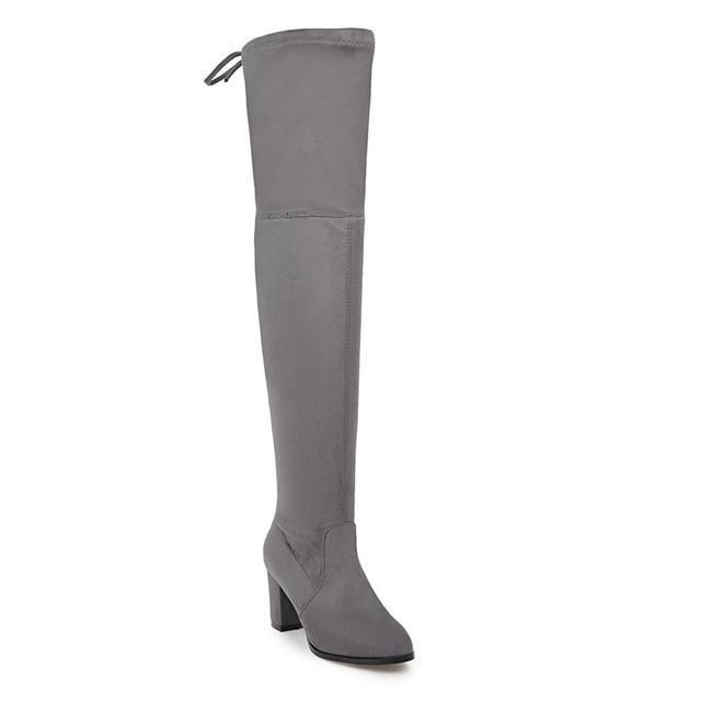 Over The Knee Motorcycle Boots - MiKlah