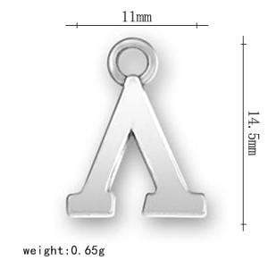 Silver Plated Greek Letter Alphabet Charms - MiKlah